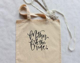 Mother of the Bride Wedding Tote Bag Mom Gift Bridal Family Gift Bag USA