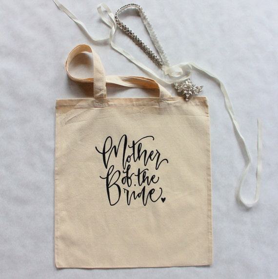Mother of the Bride Wedding Tote Bag Mom Gift Bridal Family Gift Bag USA