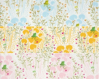 Quilting cotton fabric bundle - Far Far Away by Heather Ross, Frog Prince HR9661- Fat quarter set of 3
