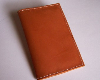 Tan Leather Passport Cover Wallet - For U.S. and Canada Passports