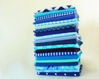 20 Blue Cloth Napkins Cloth Reusable Paper Towels - Unpaper Towels - Flannel Napkins - Eco Friendly - Paperless - 10 x 12 cb