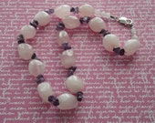 N 931 Rose Quartz and Amethyst Necklace