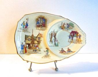 Vintage Royal Winton Grimaces Old English Market tea cup plate