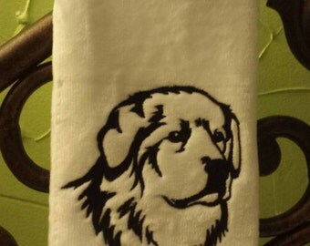 Great Pyrenees Embroidered decorative hand Towel
