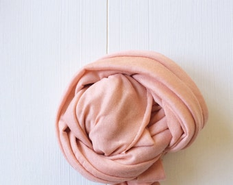 Newborn Knit Stretch Wrap, Photography Prop muted light coral