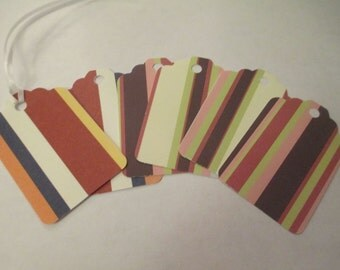 6 Stripe Themed Handmade Gift Tags