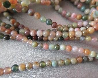 137 Fancy Jasper 3mm Round Beads Craft Supplies
