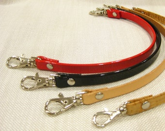 Leather and Cork Purse Handles with Swivel Hook - Neutral and Bright Colors Available - Ships from USA