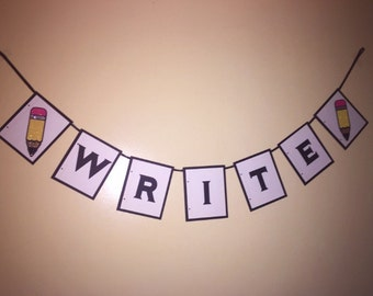 Write School Banner Made To Order