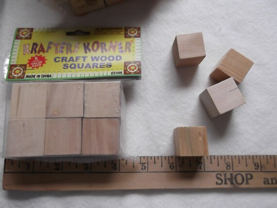 Lot of wood blocks for crafts some plain and some drilled for Plain wooden blocks for crafts