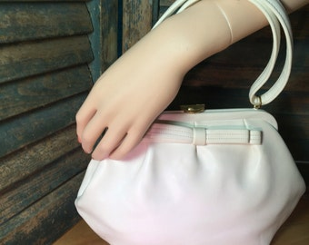 60s Garay White Bow-trimmed Handbag