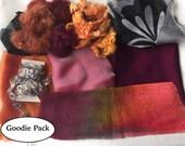 Nuno Felting Goodie Pack - Orange and Rose  205