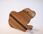 BIG Frog Cutting Board Handcrafted from Mixed Hardwoods