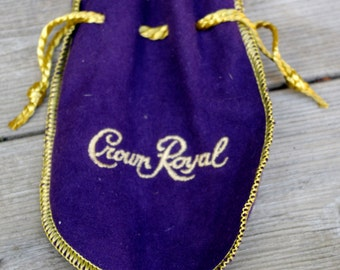 Crown Royal Bag Purple and Gold