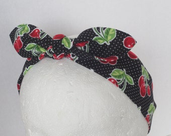 Cherries Adult headband - adjustable headband - Pin up style - adult headband