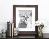 Father of the Bride, Gift for Dad, Fathers Day gift, Parents of the Bride Gifts, Canvas or ArtPaper, Custom Photo Art // H-Q72-1PS ZZ1 03P
