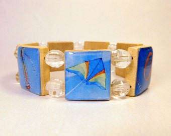 KITE Bracelet / SCRABBLE Jewelry / Handcrafted Unusual Gifts / Made in U.S.A.