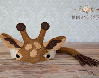 Earl the Giraffe Ears Headpiece and Tail