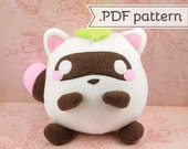 Neapolitanuki (neapolitan tanuki) .pdf Sewing Pattern -- Raccoon Dog