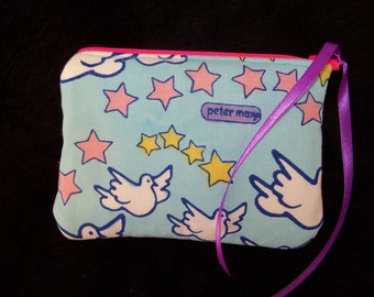 Peter Max Fabric Coin Change Purse FREE SHIPPING