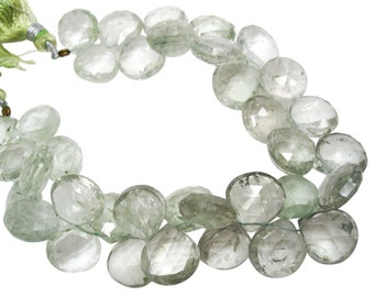 Green Amethyst Beads, Green Amethyst, Green Amethyst Briolettes, Prasiolite Beads, SKU 4339A