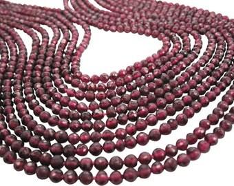AAA Garnet Beads, 4mm Round Garnet, Red Gemstone Beads, 3.5mm to 4mm, January Birthstone, SKU 3602