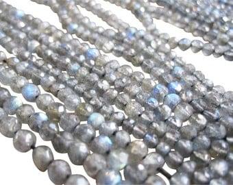 Labradorite Beads, labradorite Faceted Round, 3mm to 3.5mm round labradorite, SKU 2797