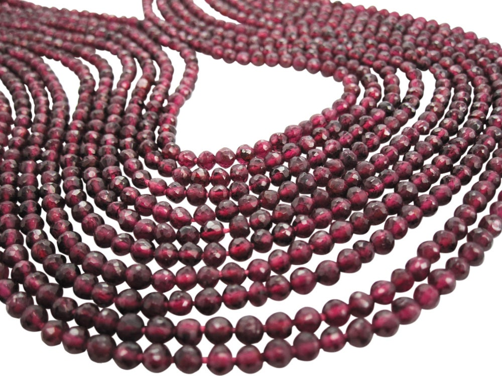 aaa garnet 4mm garnet gemstone 3 5mm