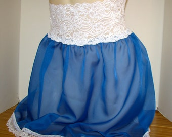 Pretty Sheer Lace and Organza Skirt Slip for your Sissy Panties Sizes XS S M L XL XXL