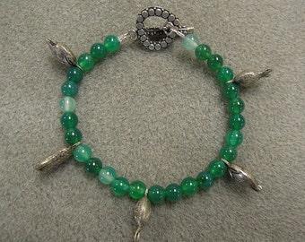 Boho Gypsy Aventurine vintage charm bracelet