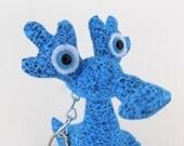 Dragon Keychain, Alien Keychain, Monster Keychain, Stocking Stuffer Toys for Boys, Cute Keychain by Adopt an Alien named Charlie