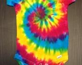 Tie Dye Onesie, Tiedye Onesie, Tie Dye Baby Onesie, 18 Months, 18 Month, Rainbow Spiral, Tie Dye Rainbow, Baby Tie Dye