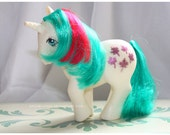 Vintage G1 MLP My Little Pony Unicorn and Pegasus Gusty