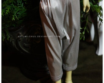 ABJD Dollfie MNF Unoa silk pale taupe Dhoti style Pants - long version