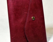 Rich Pink Leather Padfolio