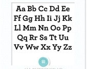 Arch alphabet set digital cut file: svg, dxf, eps, Studio