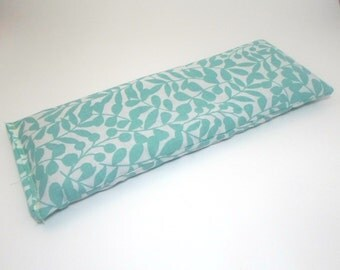 Organic Cotton Eye Pillow - blue turquoise  - Yoga pillow - Yoga eye pillow - unscented or with lavender