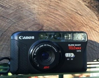 Canon Sure Shot Telemax 35mm film Point and Shoot camera