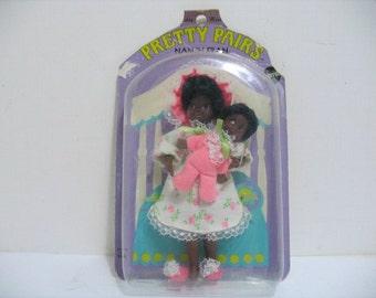 Vintage Nan 'n Fran Pretty Pairs Doll MOC Still Sealed on Card Mattel 1969 Black Americana Doll