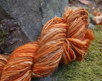 Handspun yarn, handpainted Merino wool yarn, AUNT DOT