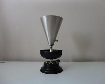 VINTAGE mid century atomic era metal CONE LAMP