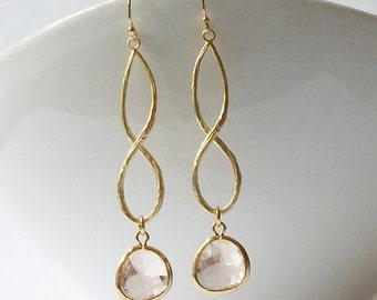 Champagne Blush Infinity Earrings