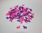 Mini Pink and Purple Unicorn Die Cuts for Scrapbooking, Card Making and Party Decorations - Ready to Ship - Free Shipping