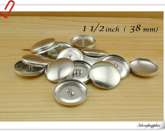 50 sets of  cover button 38mm ( 1 1/2 inch ) Size 60 Self cover buttons Wire back Cover buttons wholesale