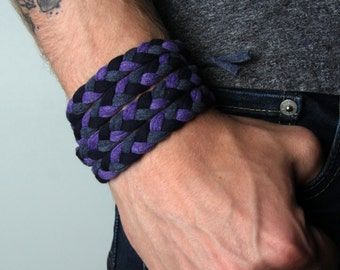 Husband Gift, Gift Husband, Gift Boyfriend, Bracelet, Purple Bracelet, Braided Bracelet, Boho Bracelet, Yoga Bracelet, Bohemian Bracelet