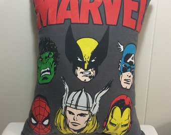 Decorative Pillow, Throw Pillow, Accent Pillow, Sofa Pillow, Couch Pillow, Bed Pillow, Marvel Comics, Superheroes, Gift Idea