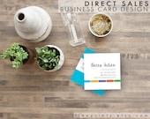 Custom Square Business Card Design and Printing {quantity: 100}