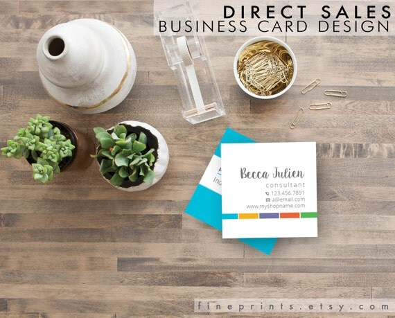 Items similar to custom square business card design and for Custom square business cards