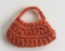 Handmade Ellowyne Gene Clothes Purse Handbag Crochet Burnt Orange