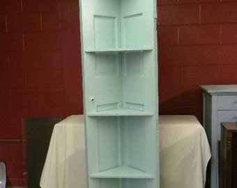 Corner Cabinet from Reclaimed Door Cottage Country Style
